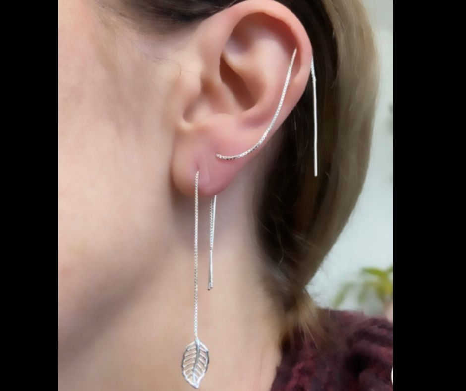 threader With Cartilage Earring